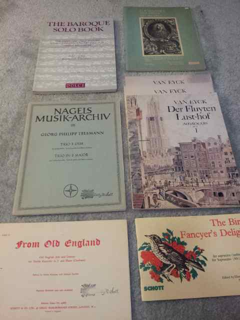 Selection of recorder music someone donated to the Pittsburgh Recorder Society