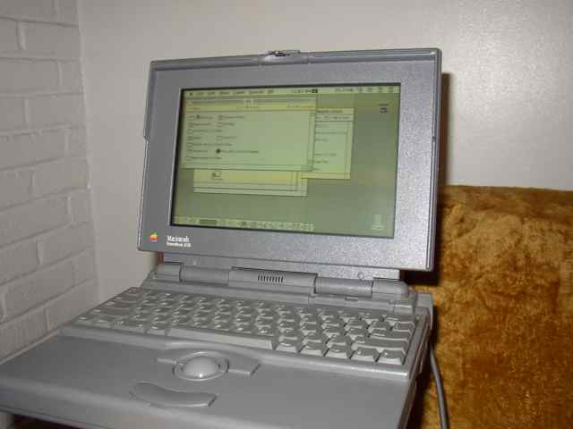 PowerBook 145B up in System 7 Finder