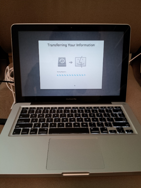 Transferring MacBook to MacBook Pro